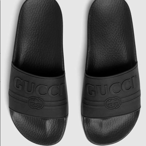 abd0f2689 Gucci Shoes | Womens Logo Rubber Slides | Poshmark